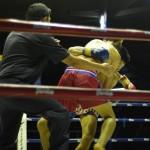 Bilder från en Muay Thai match i Chiang Mai